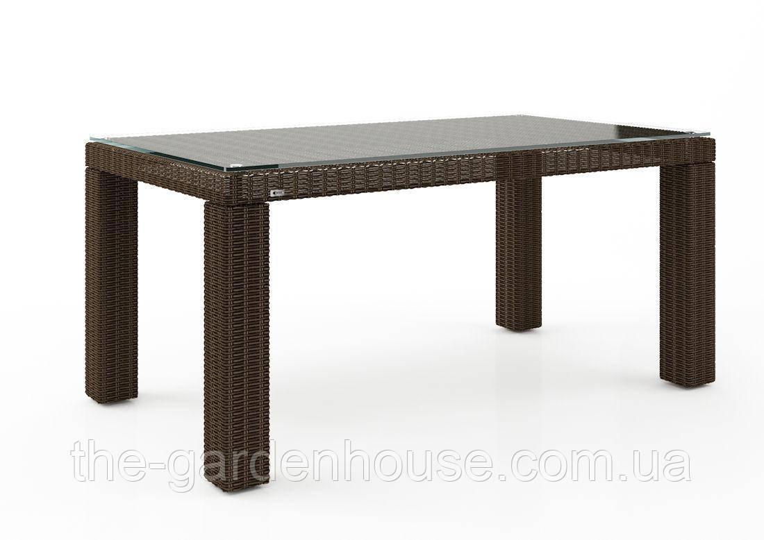 Стол обеденный Rapallo Royal из искусственного ротанга 160 см коричневый