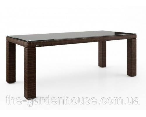 Садовый стол Rapallo Modern из искусственного ротанга 200 см коричневый