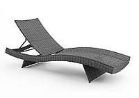 Лежак Mara из искусственного ротанга серый, фото 1