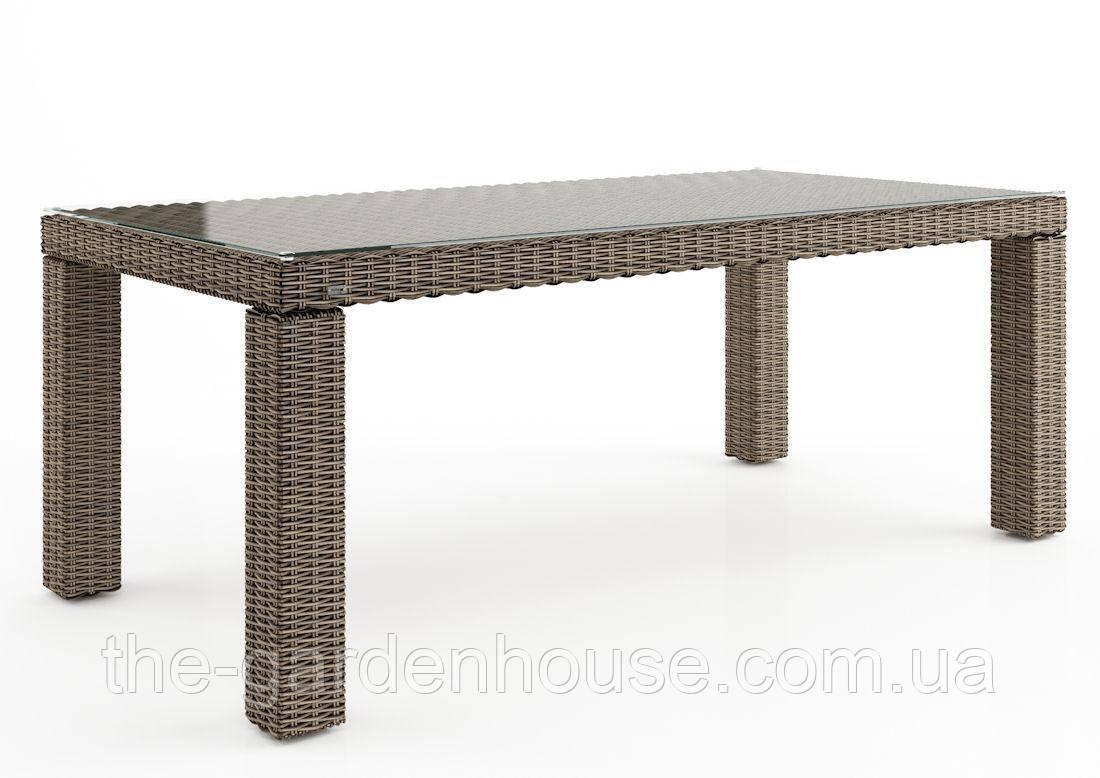 Садовый стол Rapallo Royal из искусственного ротанга 200 см бежевый