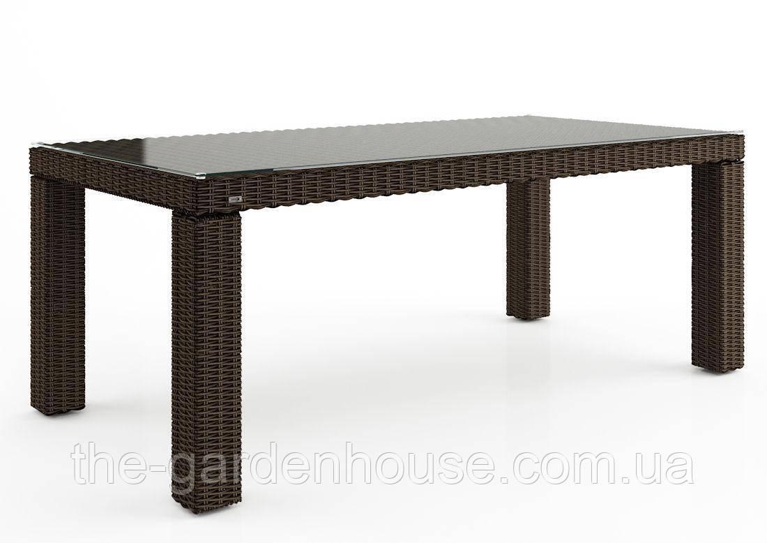 Садовый стол Rapallo Royal из искусственного ротанга 200 см коричневый