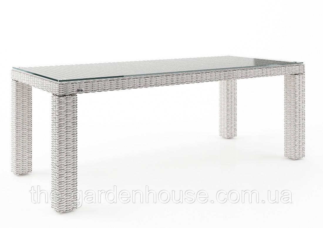 Садовый стол Rapallo Royal из искусственного ротанга 200 см белый