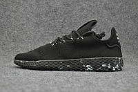 Кроссовки мужские Adidas Pharrell Williams Tennis Hu black , фото 1