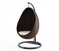 Подвесное кресло Kokon Modern из искусственного ротанга коричневое, фото 1