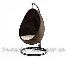 Подвесное кресло Kokon Modern из искусственного ротанга коричневое