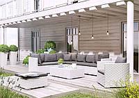 Модульный садовый набор мебели Venezia Royal из техноротанга белый, фото 1