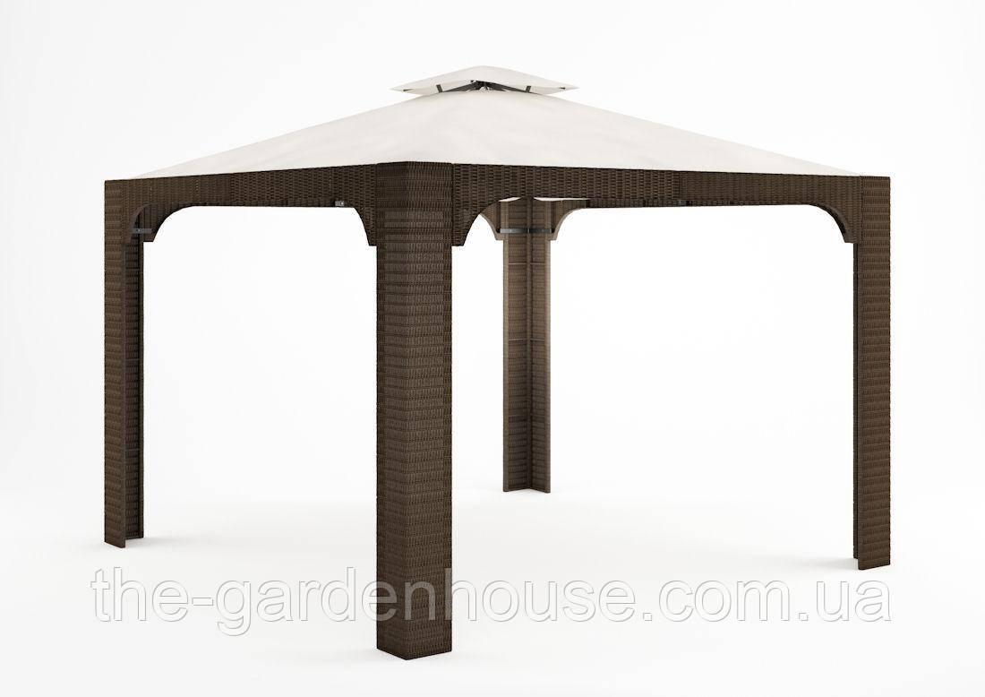 Садовый навес Canopy Royal из искусственного ротанга коричневый, фото 1