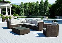Модульный садовый набор мебели Venezia Royal из техноротанга коричневый, фото 1