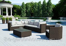 Модульный садовый набор мебели Venezia Royal из техноротанга коричневый