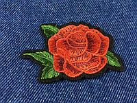 Нашивка Роза 1 бутон 68x45 мм