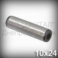 Штифт 10х24 ГОСТ 12207-79 (DIN 7979D, ISO 8735) цилиндрический с резьбой закалённый шлифованый