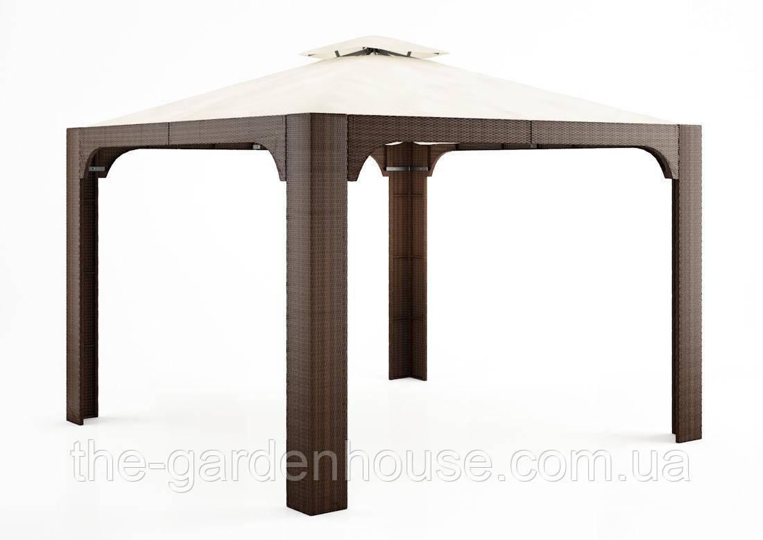 Садовый навес Canopy Modern из искусственного ротанга коричневый