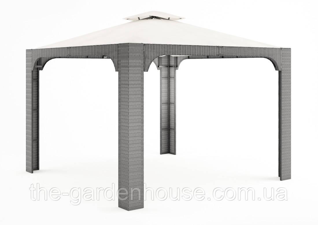 Садовый навес Canopy Royal из искусственного ротанга серый