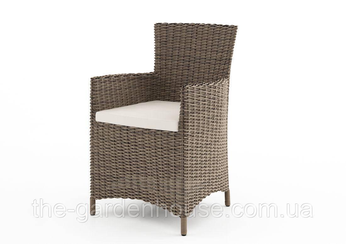 Садове крісло Amanda Royal з штучного ротанга коричневе