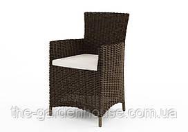 Садовое кресло Amanda Royal из искусственного ротанга коричневое
