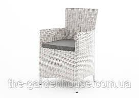 Садовое кресло Amanda Royal из искусственного ротанга белое