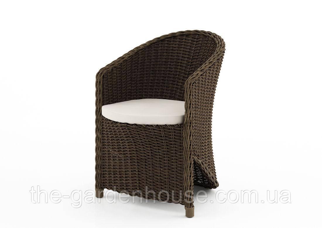 Садове крісло Dolce Vita Royal з штучного ротанга коричневе