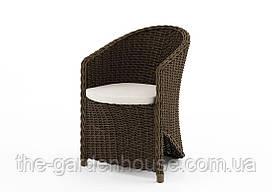 Садовое кресло Dolce Vita Royal из искусственного ротанга коричневое