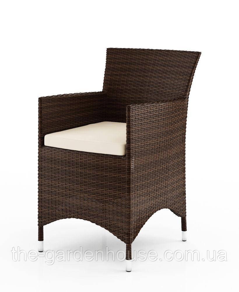 Садовое кресло Amanda Modern из искусственного ротанга коричневое