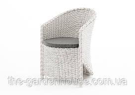 Садовое кресло Dolce Vita Royal из искусственного ротанга белое