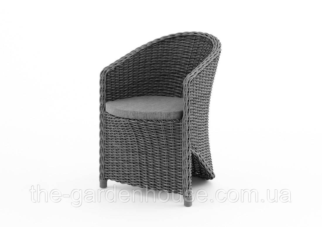 Садовое кресло Dolce Vita Royal из искусственного ротанга серое