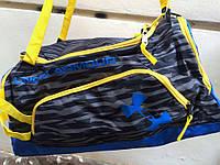 Cумка рюкзак спортивная Under Armour желто - синяя (реплика)