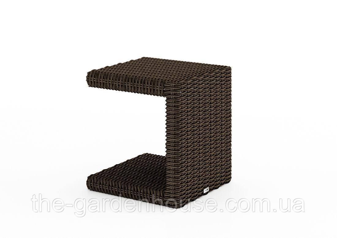 Столик к шезлонгу Romeo Royal из искусственного ротанга коричневый