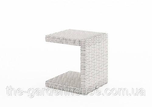 Столик к шезлонгу Romeo Royal из искусственного ротанга серый