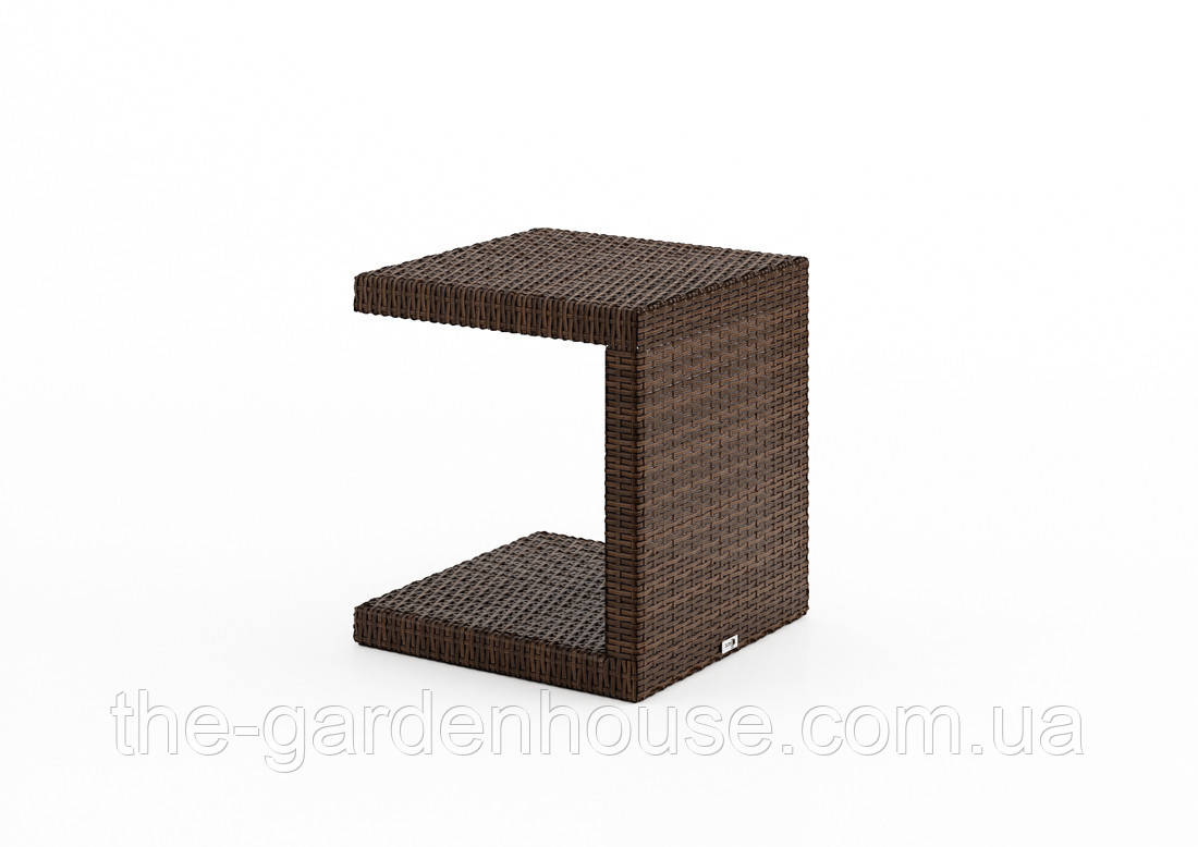 Столик к шезлонгу Romeo Modern из искусственного ротанга коричневый