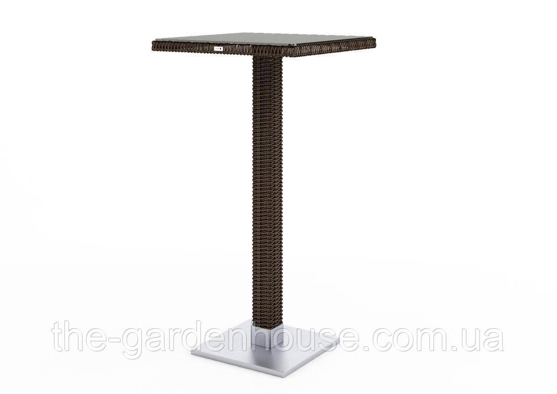 Барный столик Quadro Royal из искусственного ротанга коричневый