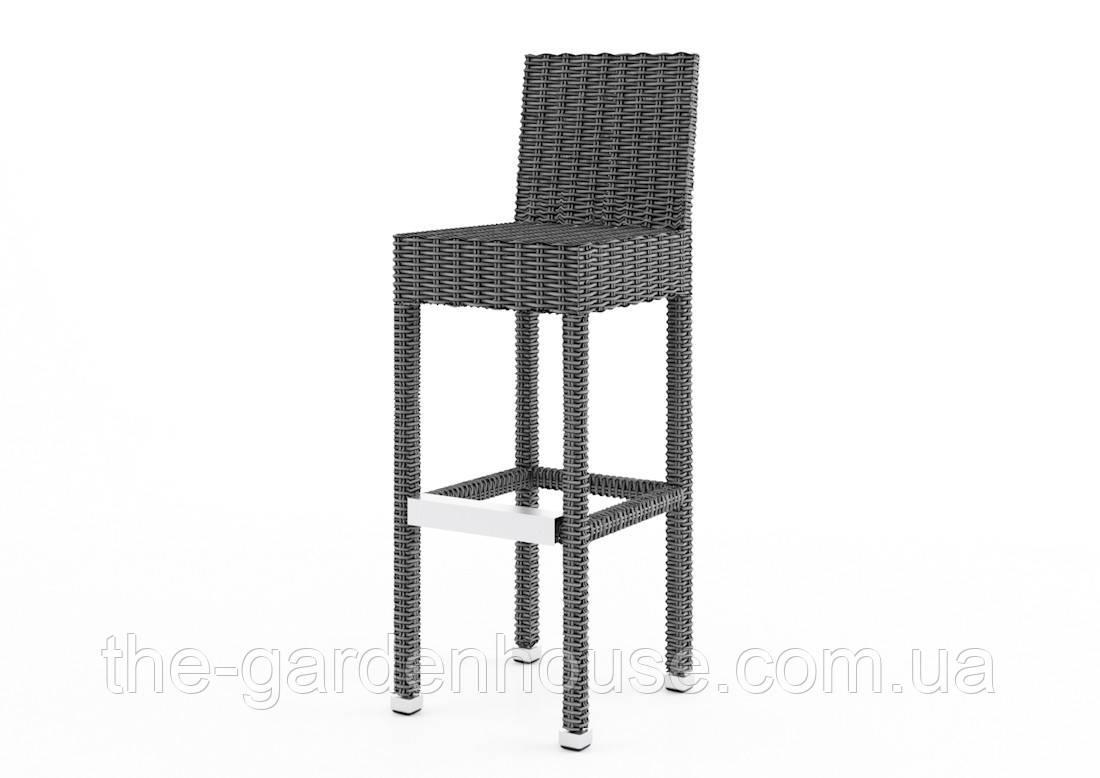 Барный стул Sondrio Royal из искусственного ротанга серый