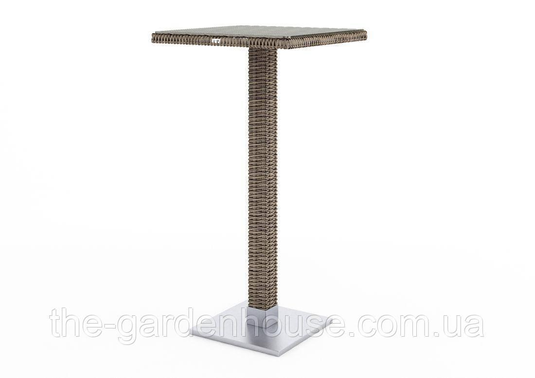 Барний столик Quadro Royal з штучного ротанга бежевий