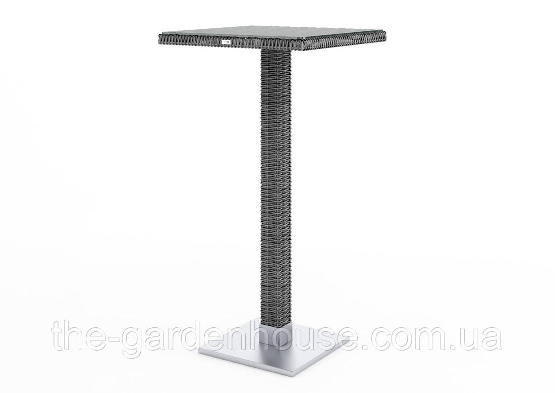 Барный столик Quadro Royal из искусственного ротанга серый