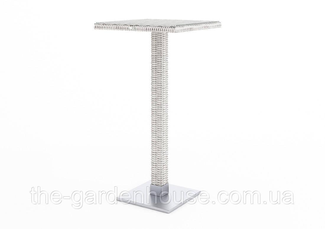 Барный столик Quadro Royal из искусственного ротанга белый