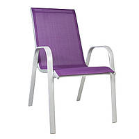 Стілець з підлокітниками Detroit з текстилена фіолетовий