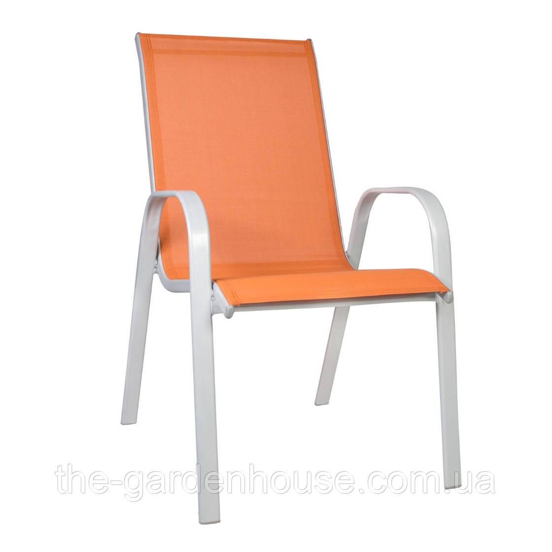 Стул с подлокотниками Detroit из текстилена оранжевый