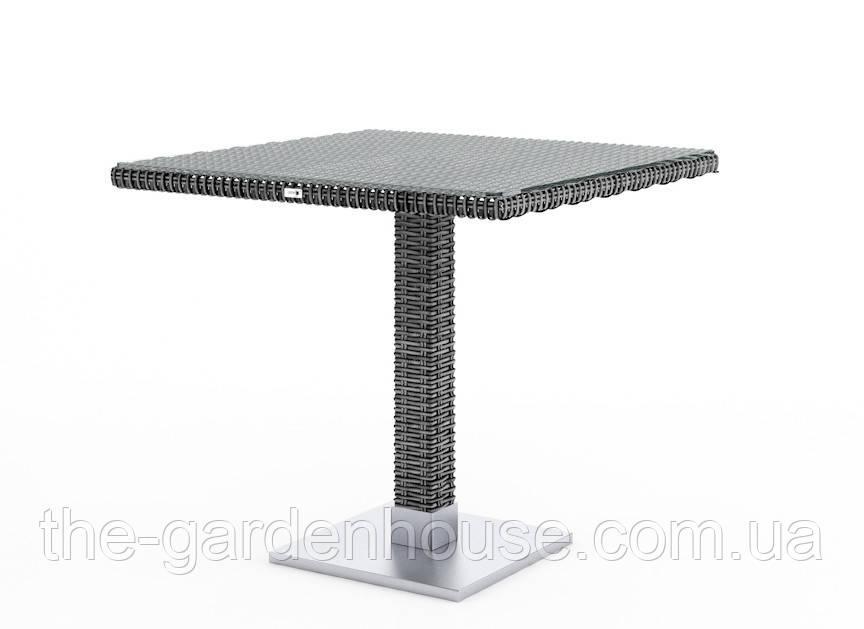 Стол Quadro Royal из искусственного ротанга 80х80 см серый