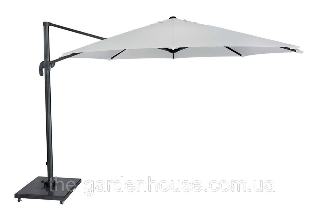 Садовый зонт Solarflex T1 Ø3,5 м  с подставкой белый