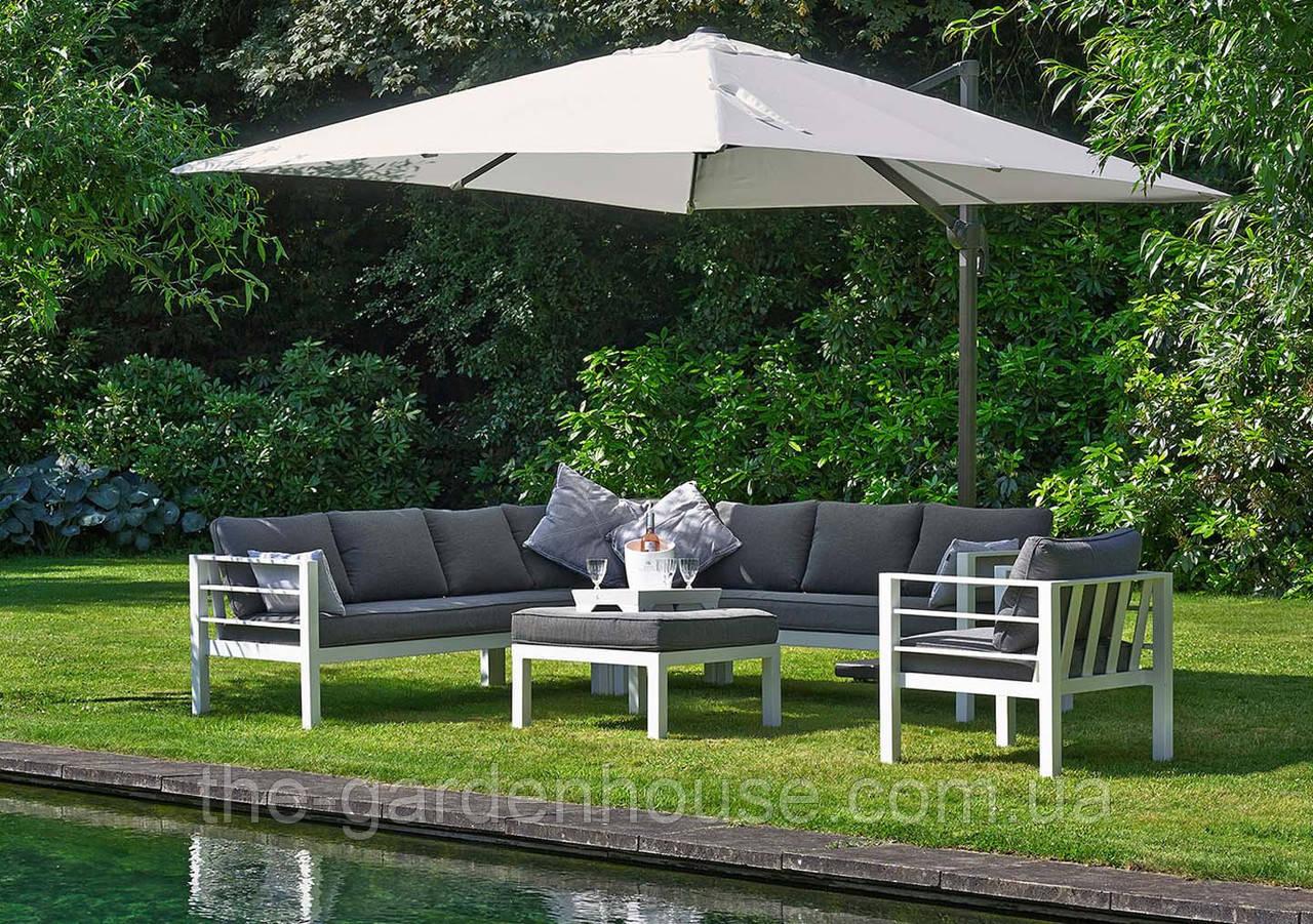 Садовый зонт Solarflex T1 3х3 м  с подставкой белый