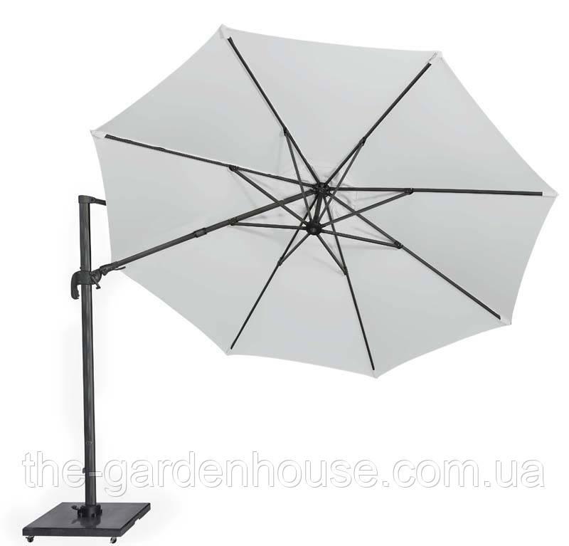 Садовий парасолька Solarflex T2 Ø3,5 м з підставкою білий