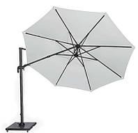 Садовий парасолька Solarflex T2 Ø3,5 м з підставкою білий, фото 1