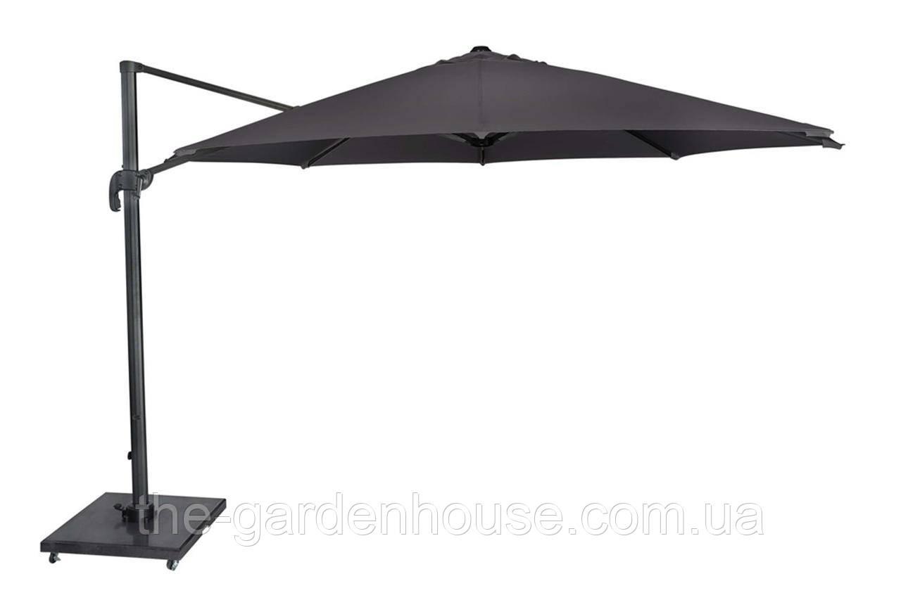 Садовый зонт Solarflex T1 Ø3,5 м  с подставкой антрацит