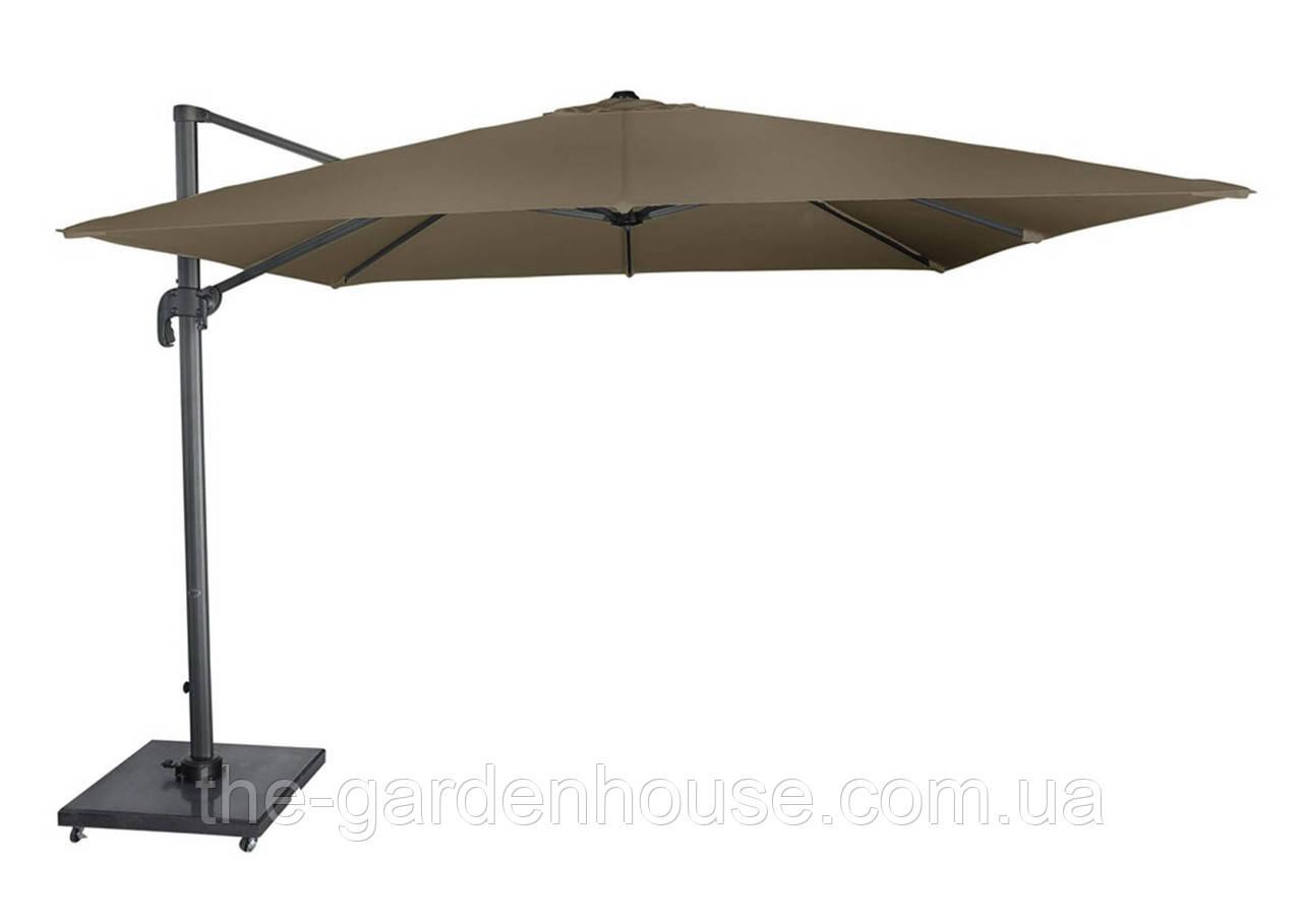 Садовый зонт Solarflex T1 3х3 м  с подставкой коричневый