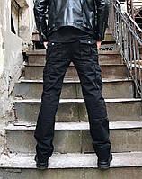 Джинсы Iteno 8813-1 карго чёрные мужские