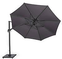 Садовый зонт с подсветкой Solarflex T2 Ø3,5 м  + подставка антрацит, фото 1