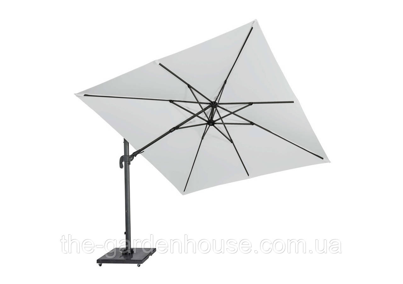 Садовый зонт Solarflex T2 3х3 м с подставкой белый