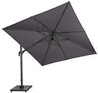Садовый зонт с подсветкой Solarflex T2 3х3 м + подставка антрацит, фото 1