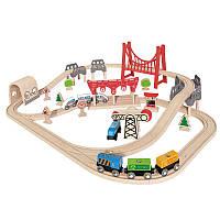 Игровой набор железной дороги Hape Двойная петля (E3712)