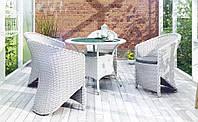 Обеденный комплект садовой мебели Filip & Dolce Vita Royal из искусственного ротанга белый, фото 1