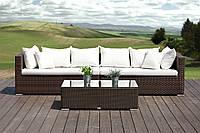 Модульный диван со столиком из искусственного ротанга Venezia Modern